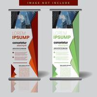 Werbe Roll-up Banner Vorlage mit geometrischen Formen vektor