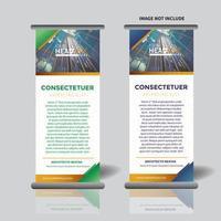 Vertikale Banner Vorlage mit Dreieck-Design aufrollen