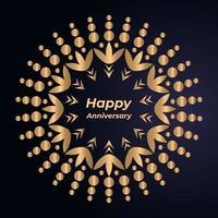 Lycklig årsdag Mandala Design vektor