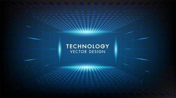 Abstraktes digitales digitales Innovationstechnologiekonzept vektor