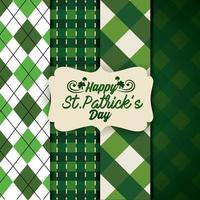 St. Patrick Hintergrund Set vektor