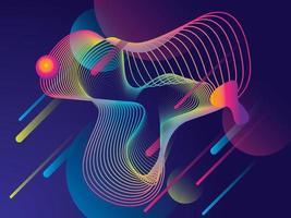Geometrisk bakgrundsdesign med färgglada lutningar
