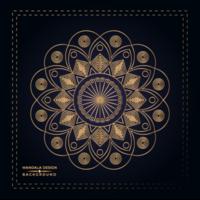 Goldene Mandala-Hintergrundmit blumenauslegung