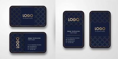 Abstrakte Luxusmuster-Visitenkarte-Schablone vektor
