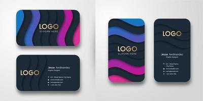 Abstrakte Luxuswellenmuster-Visitenkarte-Schablone vektor