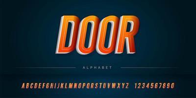 Shadow 3D Alphabet gesetzt vektor