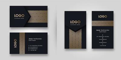 Luxusmuster-Dunkelheits-Visitenkarte-Schablone vektor