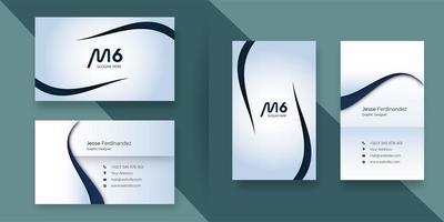 Modern företags visitkortmall för ljus färg vektor