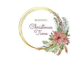 Weihnachtskranz mit Weihnachtsstern Blume