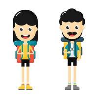 ungdomar med resväska set