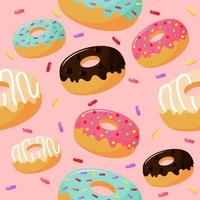süße süße Donuts nahtlose Muster vektor