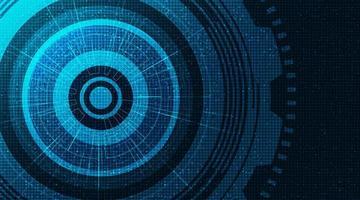 Modern hjul och kugghjul för modern digital teknologi på teknologibakgrund.