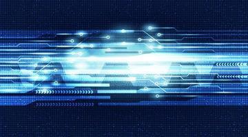 Ljus futuristisk digital krets med nätverksteknologibakgrund.