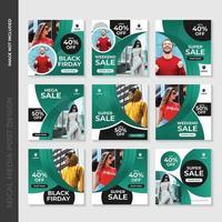 Grünes Mode-Social Media-Beitrags-Schablonen-Design