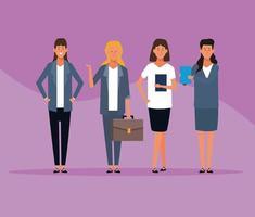 affärskvinnor grupp