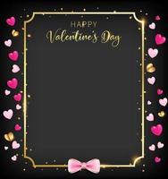 Schwarze Valentinstagfahne mit Herzfunkeln