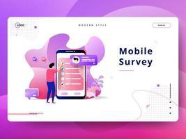 Handy-Umfrage zur Zielseite
