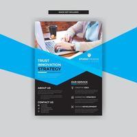 Blaues winkliges Design mit Geschäfts-Flieger-Schablonen-modernem Design vektor