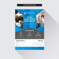 Blaues und graues Geschäft Flyer Vorlage Modernes Design vektor