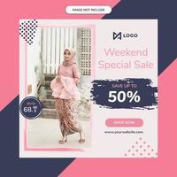 Mode försäljning annons mall