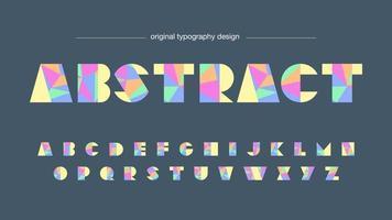 Färgglad design med låg poly typografi