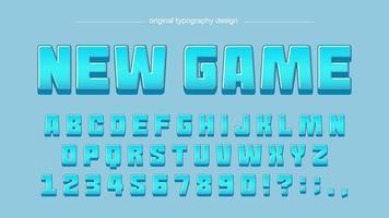 blå tecknad komiker typografi