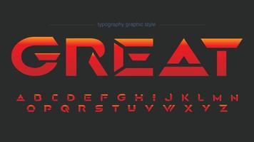 Futuristic Sports Red Künstlerische Schrift