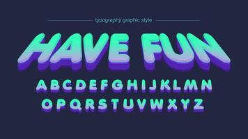 Perspektiven-Neon färbt Karikatur-Typografie vektor
