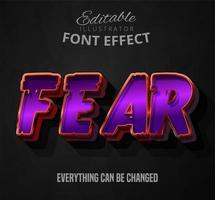 Fürchte gespenstischen Text vektor