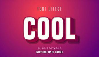 Cooler erhöhter Texteffekt vektor