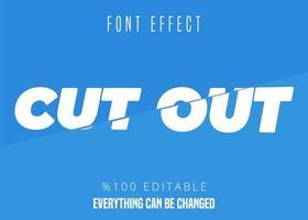 Schrifteffekt ausschneiden
