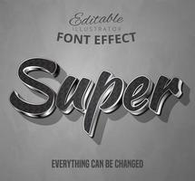 Super glänzender metallischer Text vektor