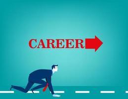 Affärsman redo att köra och starta karriär