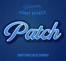 Text mit Schriftarteneffekten patchen vektor