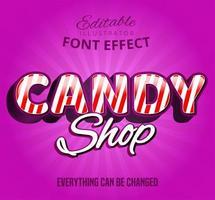 Süßigkeiten-Shop-Text, vektor