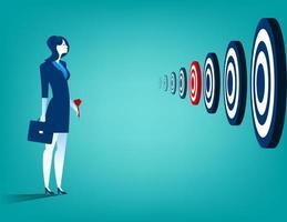 Geschäftsfrau und mehrere Ziele