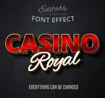 Casino königlichen Text vektor