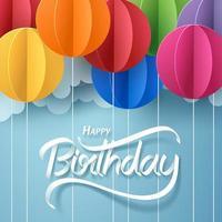 Papierkunst von alles Gute zum Geburtstag