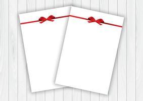 Valentinstaghintergrund mit leeren Buchstaben mit roten Geschenkbögen vektor