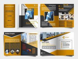 6-seitige Broschürenvorlage