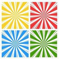 Uppsättning av abstrakt ljusstrålar bakgrund vektor