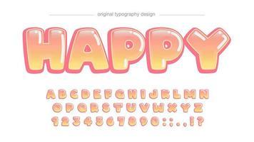 Blasen-orange Karikatur-Comics-Typografie vektor