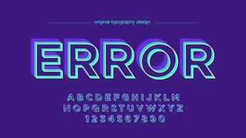 Fett Großbuchstaben Neonfarben künstlerische Schriftart vektor