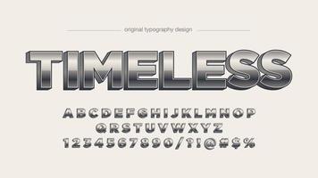 Chrome fet skrift för stora bokstäver