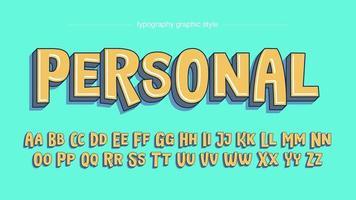 Oregelbundna tecknade serier med stora bokstäver