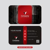 Röd svart modern visitkortdesign