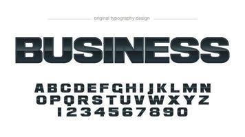 Mutige schwarze metallische Geschäfts-Typografie vektor