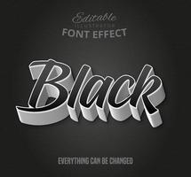 Schwarzer Text-Font-Effekt. vektor