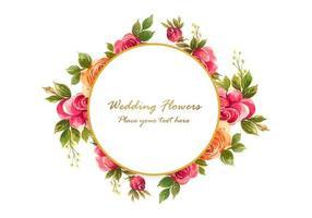 dekorativer Blumenrahmenhintergrund vektor