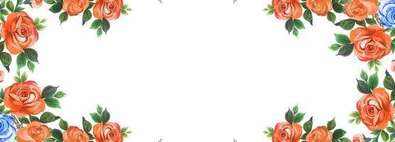 Blommig banner bakgrund vektor